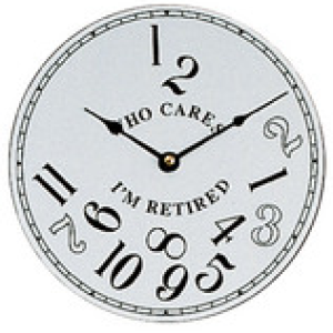 Let S Make Time White Who Cares I M Retired Clock Dial 200mm