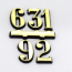 3,6,9,12 gold arabic numbers|3,6,9,12 gold arabic numbers