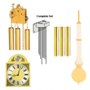 Hermle Westminster Chime with Tempus fugit dial|Mechanical Chain Hermle movement
