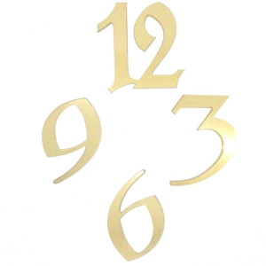 Brass - brushed aluminum numbers|Brass - brushed aluminum numbers