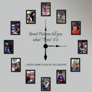 Large Photo Frame Wall Clock Kit