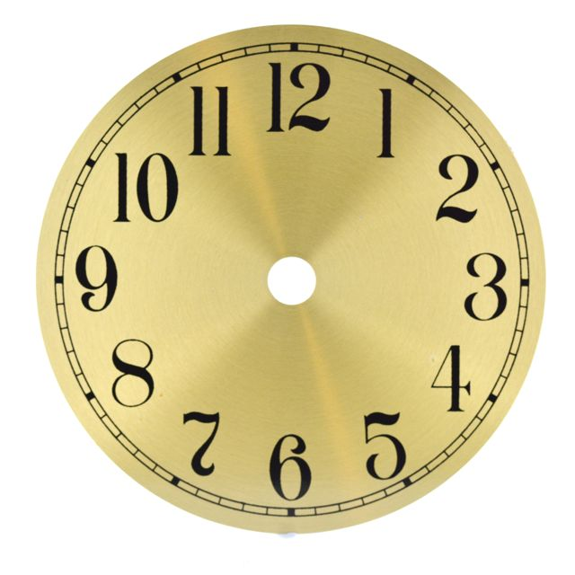 Let's Make Time - Gold Arabic Clock Dial 115mm, 150mm