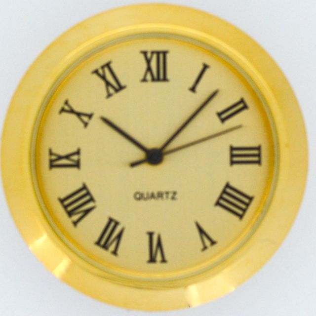 Let's Make Time - 36mm Insert Fit-up Clocks - F36 Gold Roman