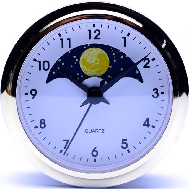 White Arabic Moon Phase 90mm
