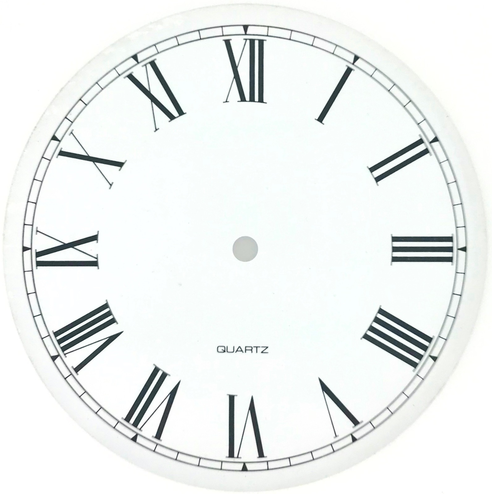 Let S Make Time White Roman Clock Dial 200mm Delux