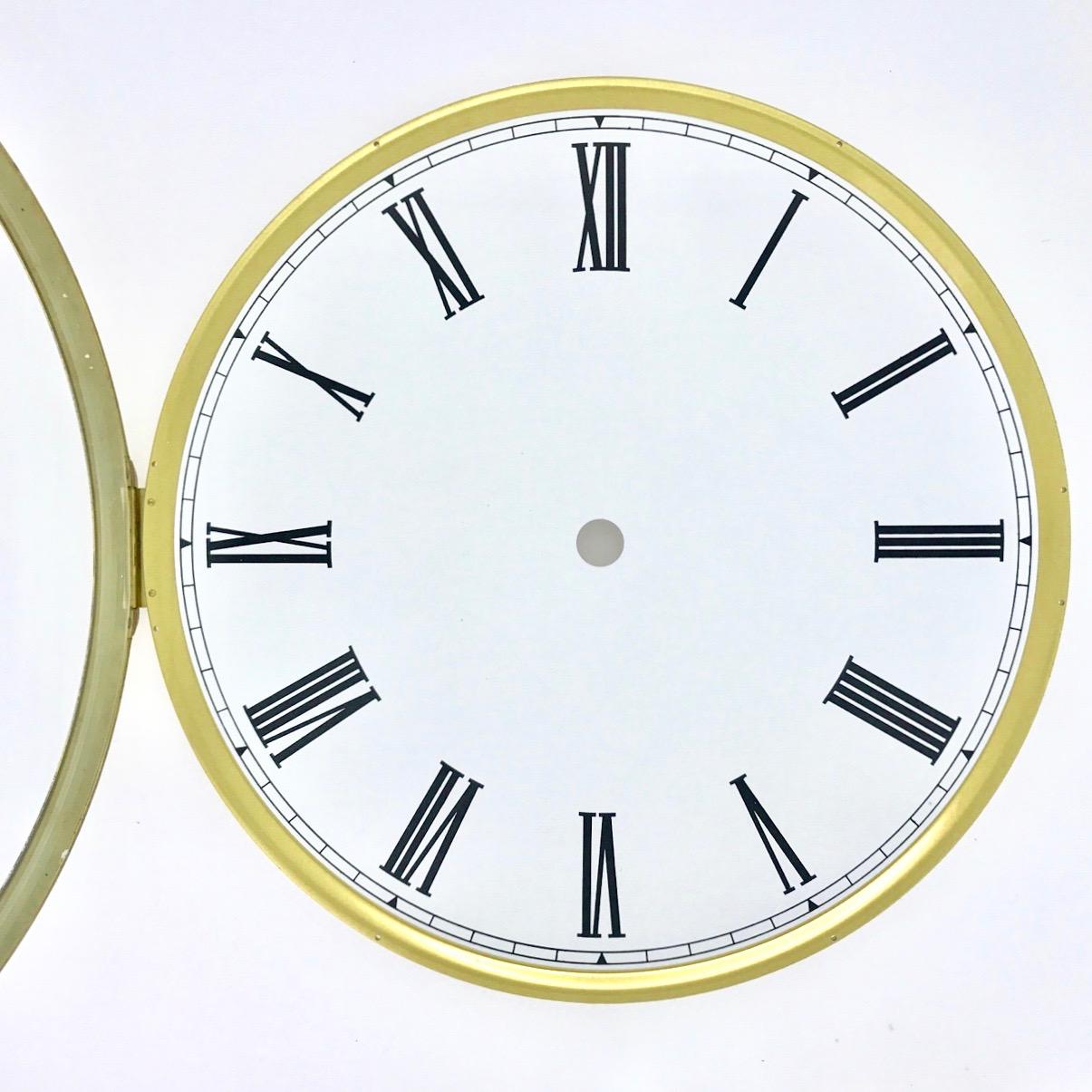 Let S Make Time Hinged Dial Amp Glass Brass Bezel White