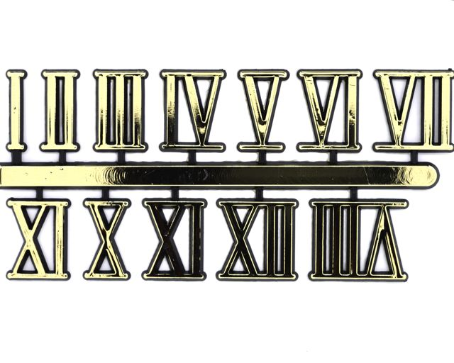 Let S Make Time Gold Roman Numerals 10mm 30mm